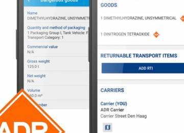 Digitální e-CMR TransFollow: také pro ADR přepravu