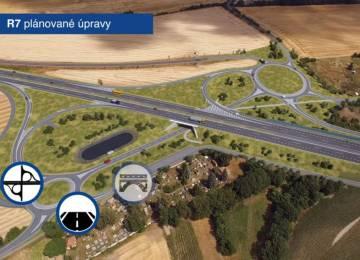 ŘSD má povolení pro další úsek D7, rozšíření obchvatu Panenského Týnce začne letos